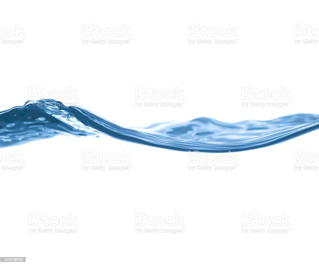 water surface on a white background stock photo