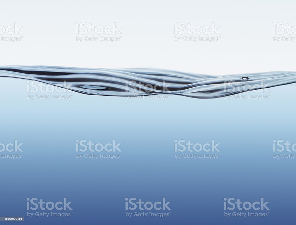Water surface with big wave stock photo