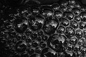 water surface with bubbles Abstract background White and Black
