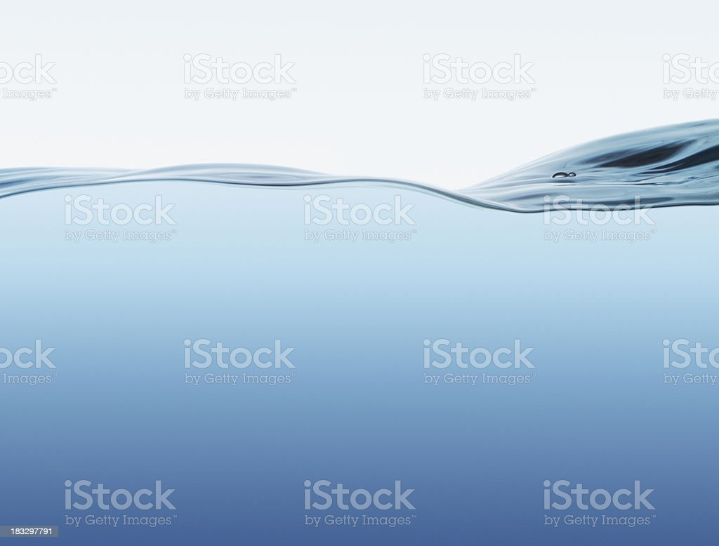 Water surface with wave stock photo