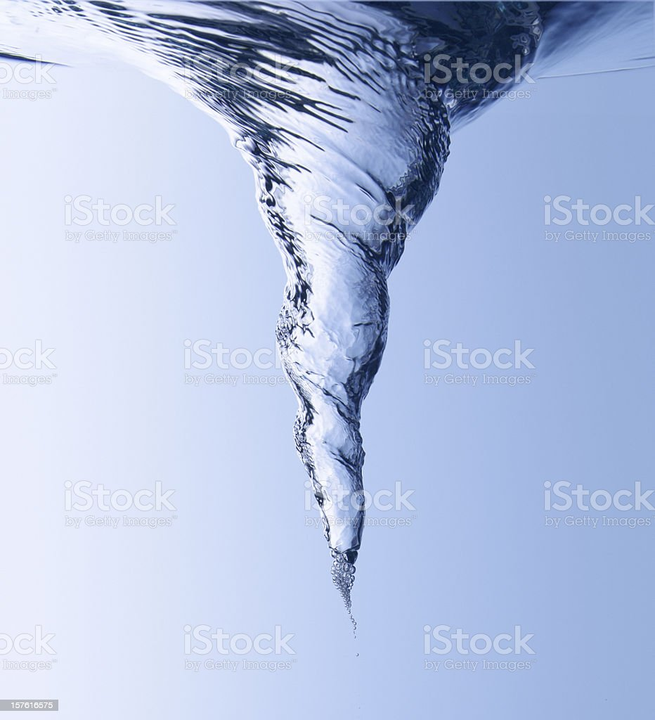Water swirl royalty-free stock photo