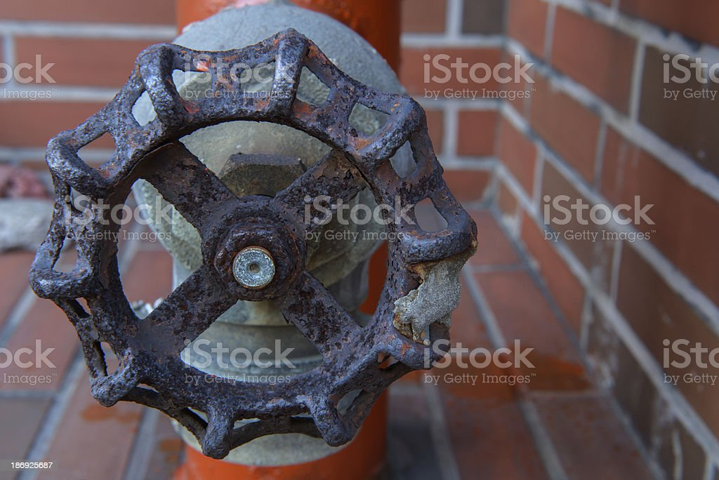 Water switch valve stock photo