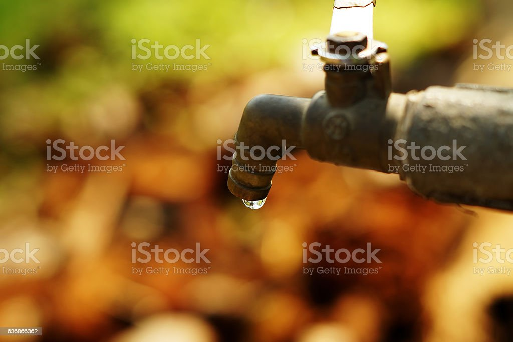 Water tap in rural Kerala, India stock photo