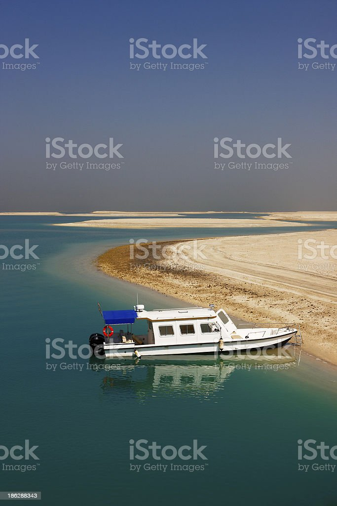 Water taxi boat stock photo