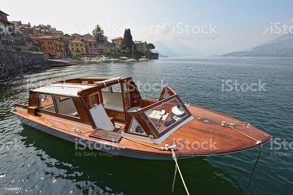 Water taxi, Varenna, Lake Como, Lombardy, Italy, Europe stock photo