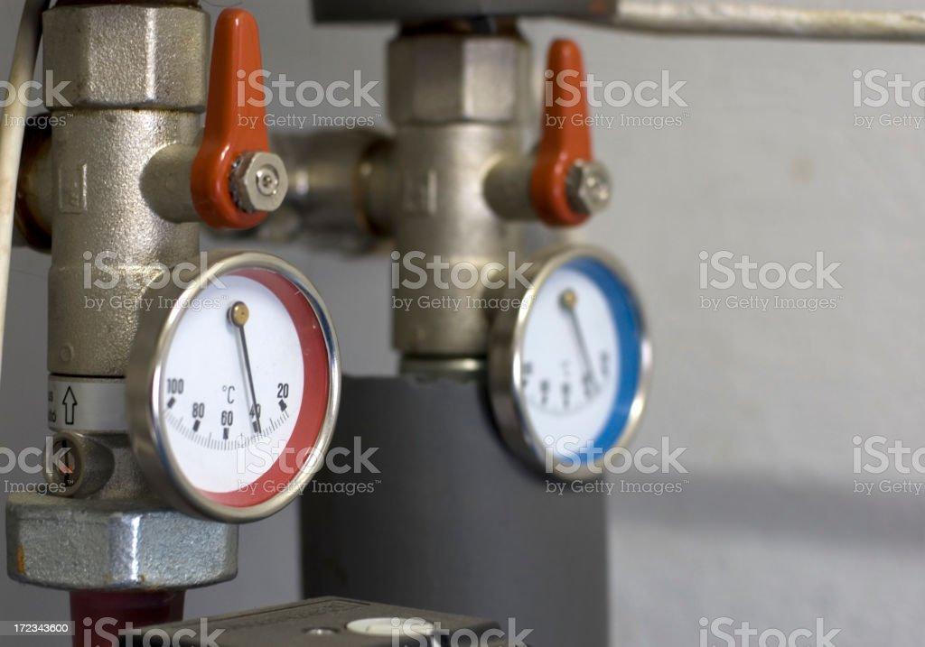 Water Temperature Gauge No.2 royalty-free stock photo