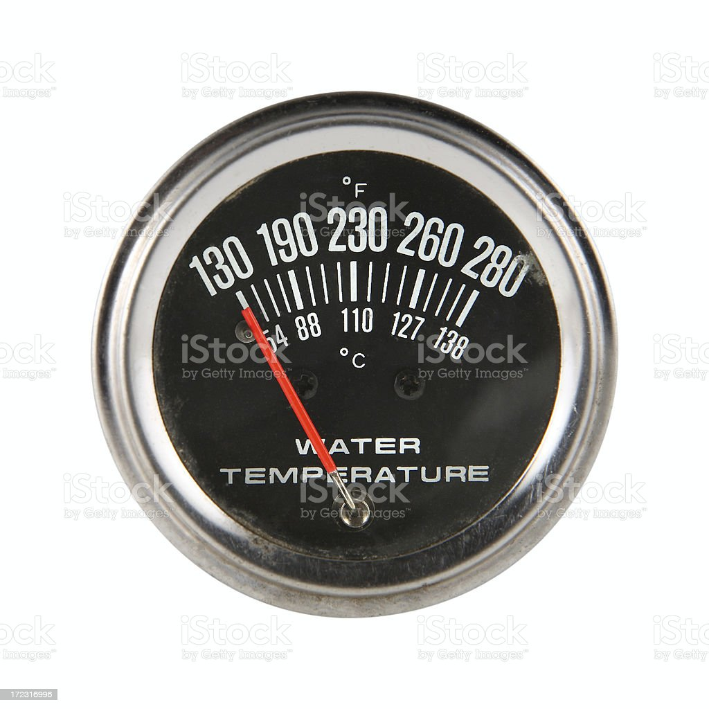 water temperature guage royalty-free stock photo
