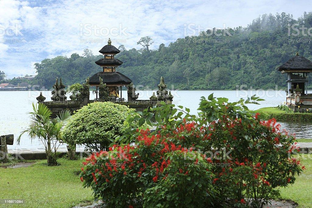 Water Temple on the Bratan Lake, Bali royalty-free stock photo