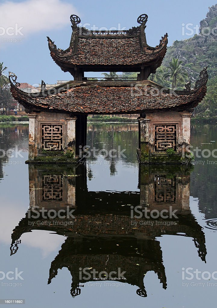 Water temple stock photo