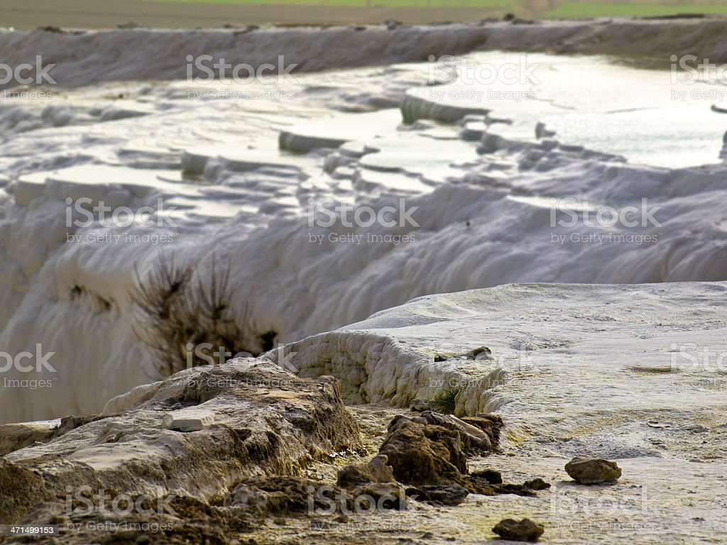 Water terraces stock photo