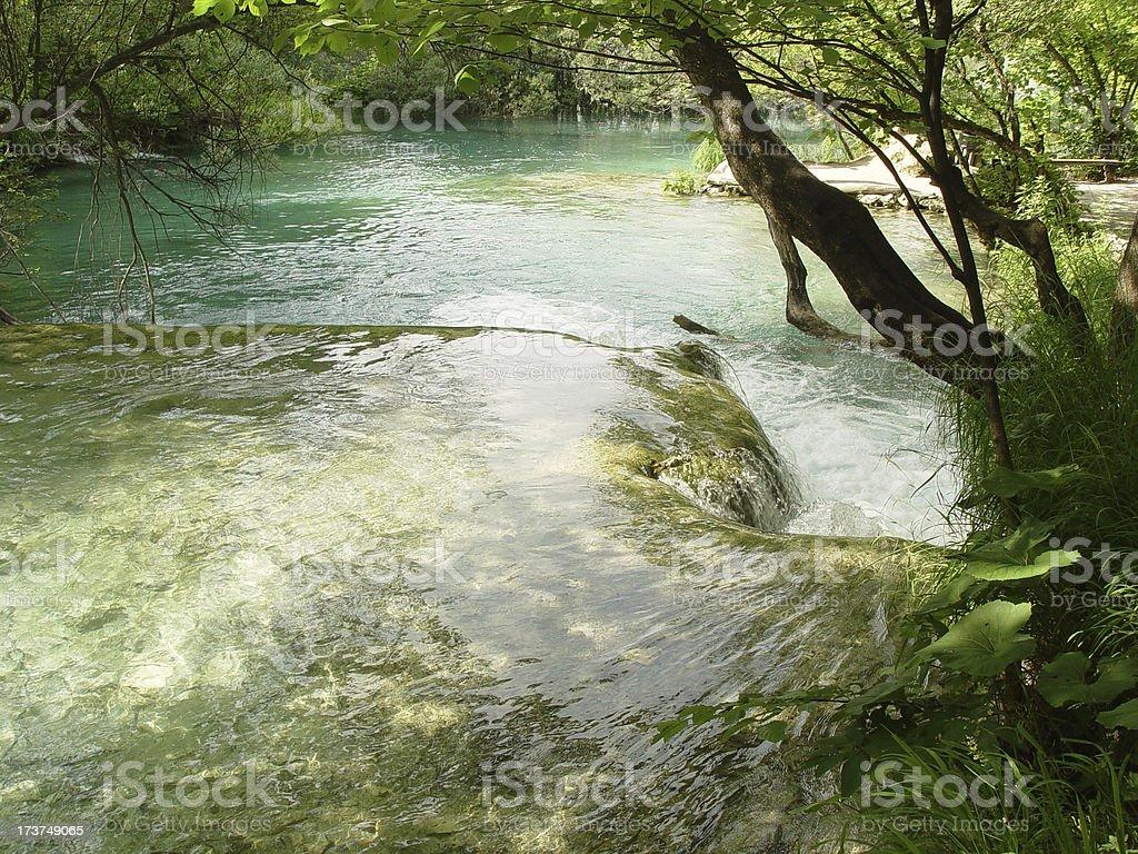 Water terras stock photo