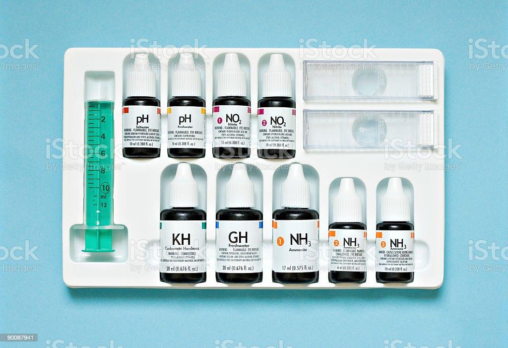 Water test kit stock photo