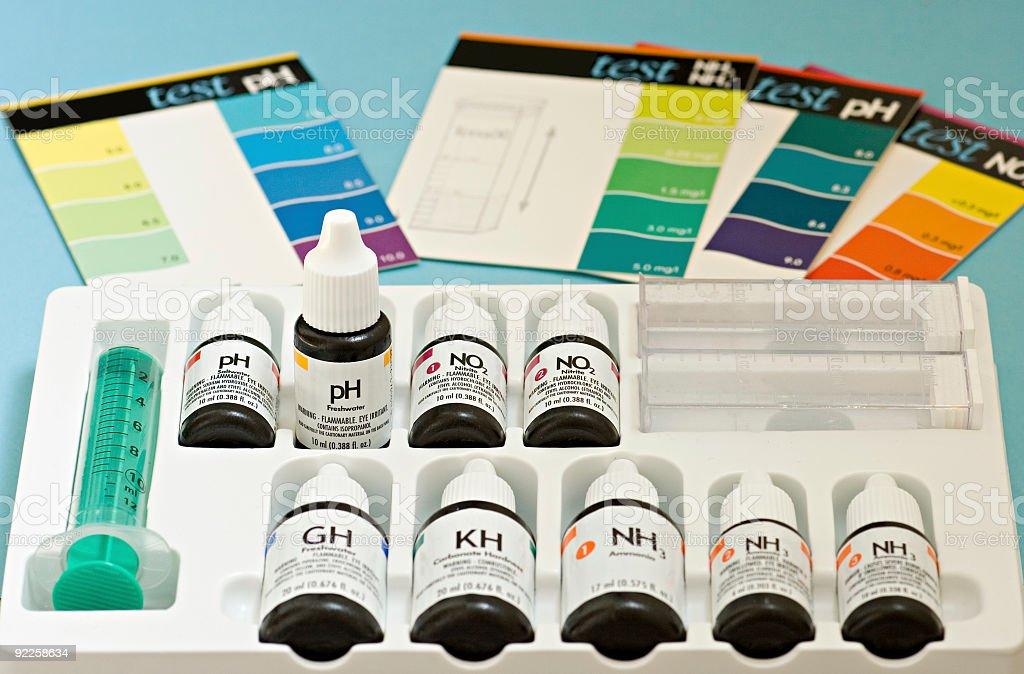 Water testing kit stock photo