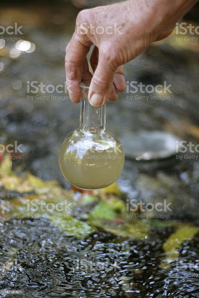 Water testing royalty-free stock photo