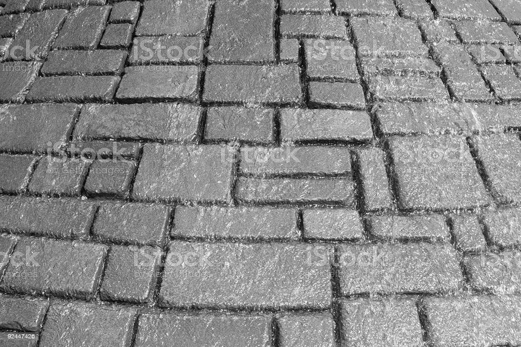 water through bricks stock photo