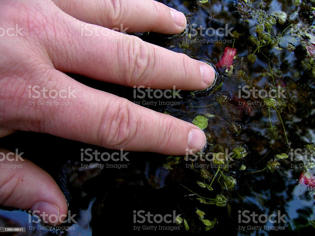 Water Touch royalty-free stock photo
