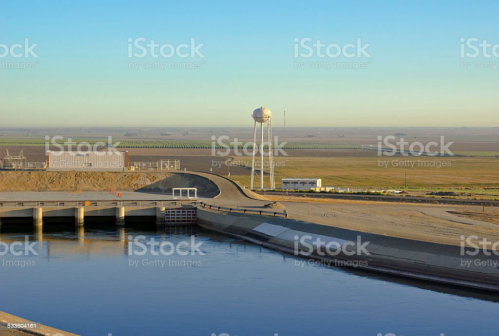 Water Tower and Aqueduct stock photo
