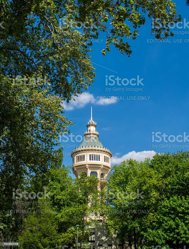Water tower in Margaret Island, Budapest, Hungary stock photo