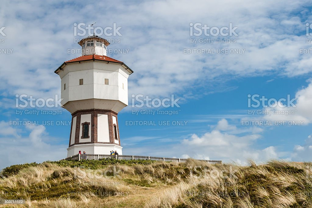 Water tower of Langeoog, Germany stock photo
