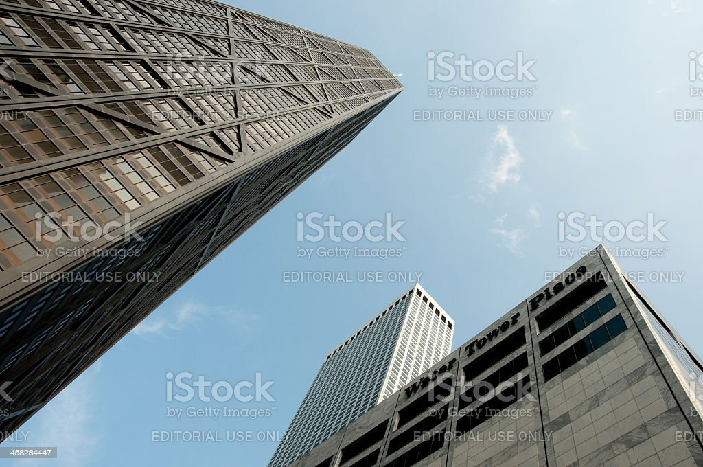 Water Tower Place and John Hancock Building royalty-free stock photo