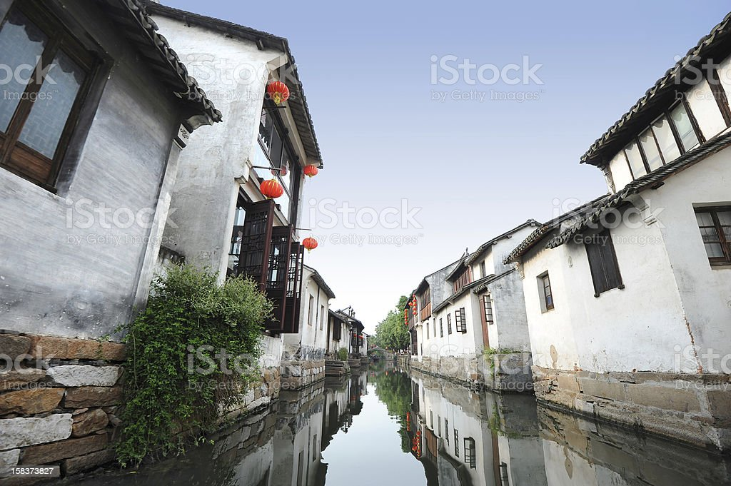 Water town in China stock photo