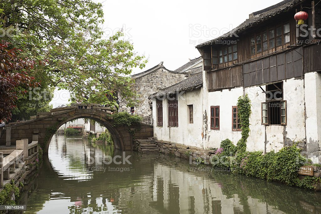 Water town Zhouzhuang royalty-free stock photo