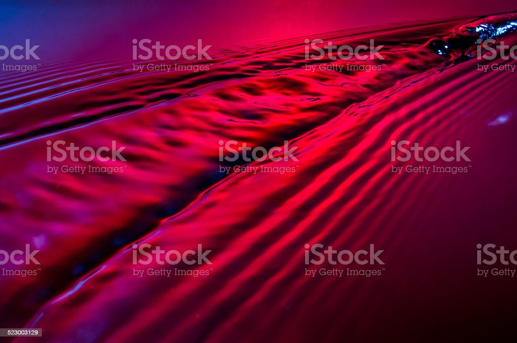 Water trails stock photo