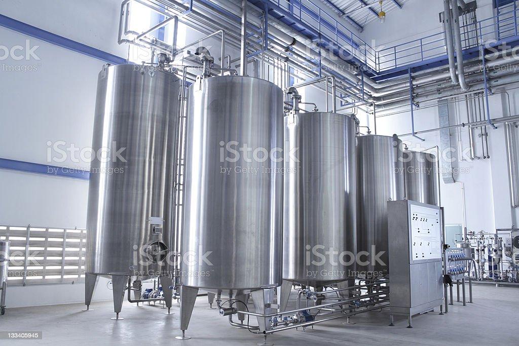 Water treatment equipment stock photo