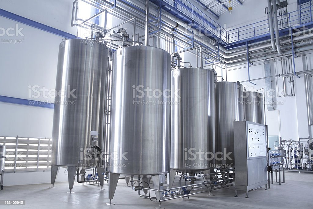 Water treatment equipment stock photo