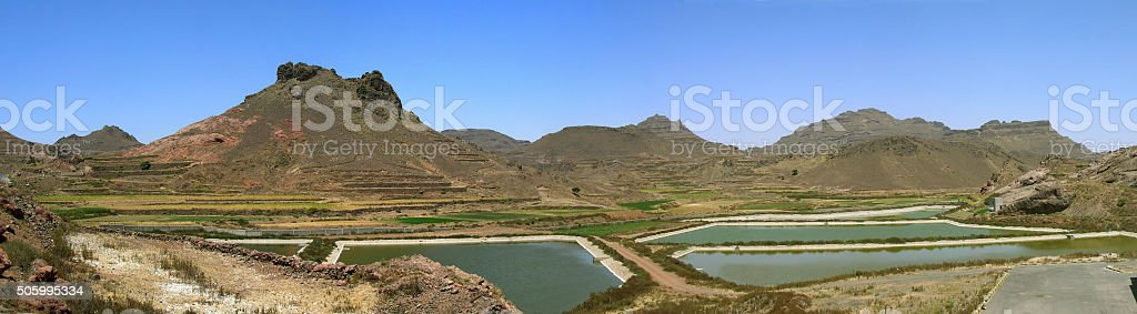 Water treatment facility in Yemen stock photo