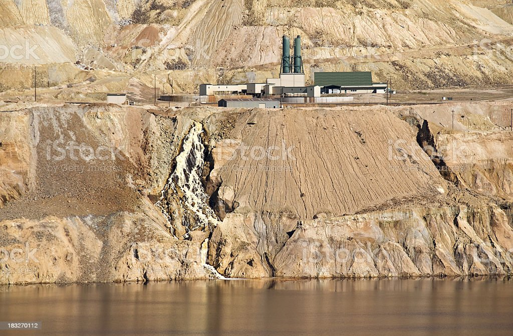 Water treatment plant at copper mine royalty-free stock photo
