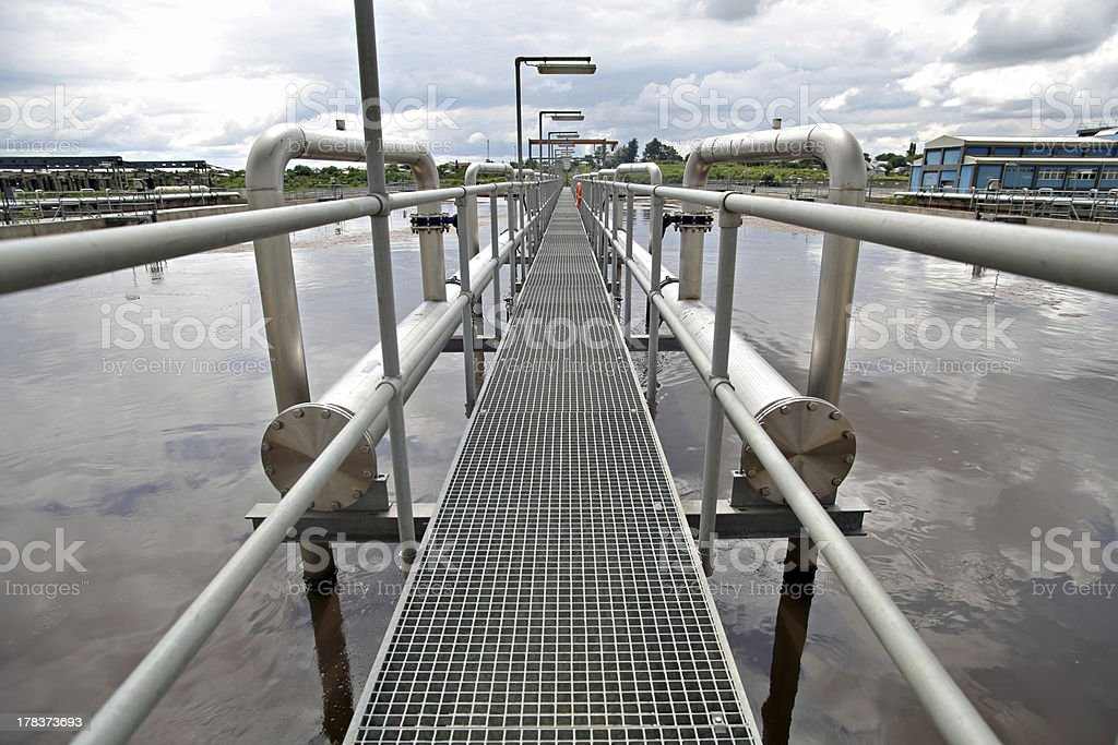 Water treatment plant stock photo