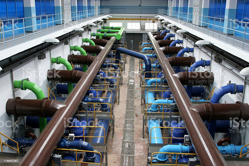 Water treatment plant with GRE royalty-free stock photo