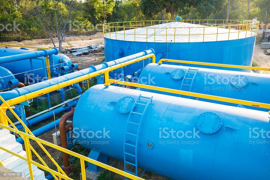 Water treatment plants stock photo