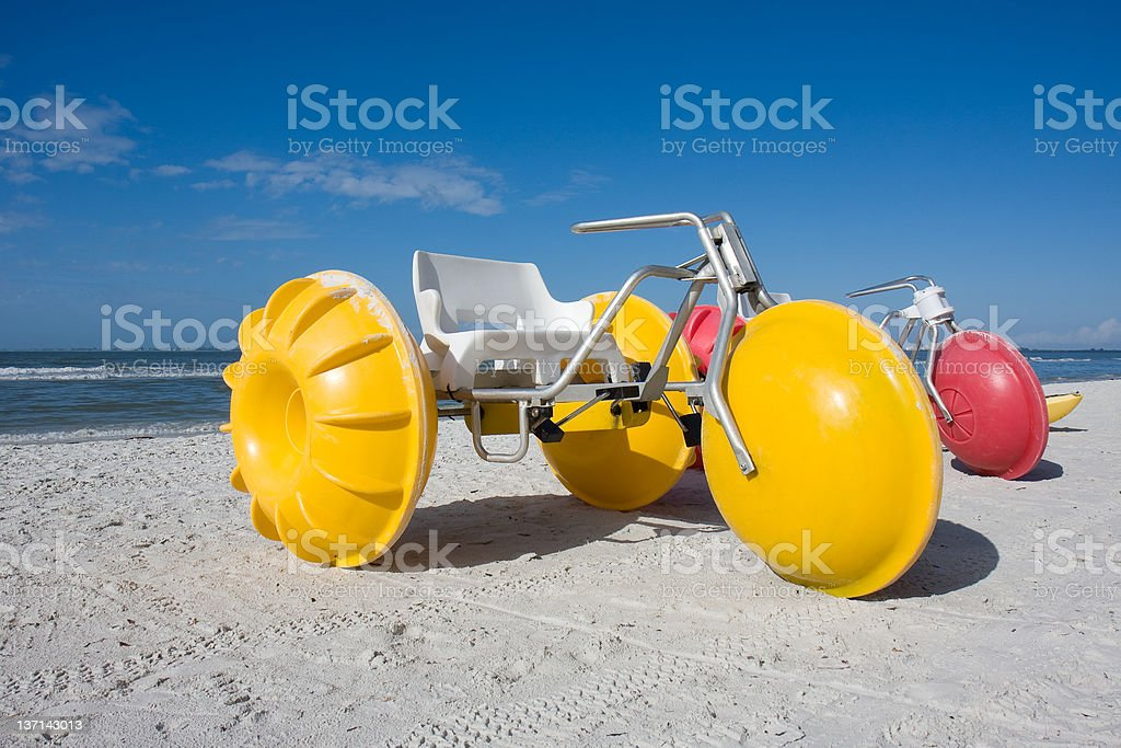 Water Tricycles, Ft. Myers Beach, Florida stock photo