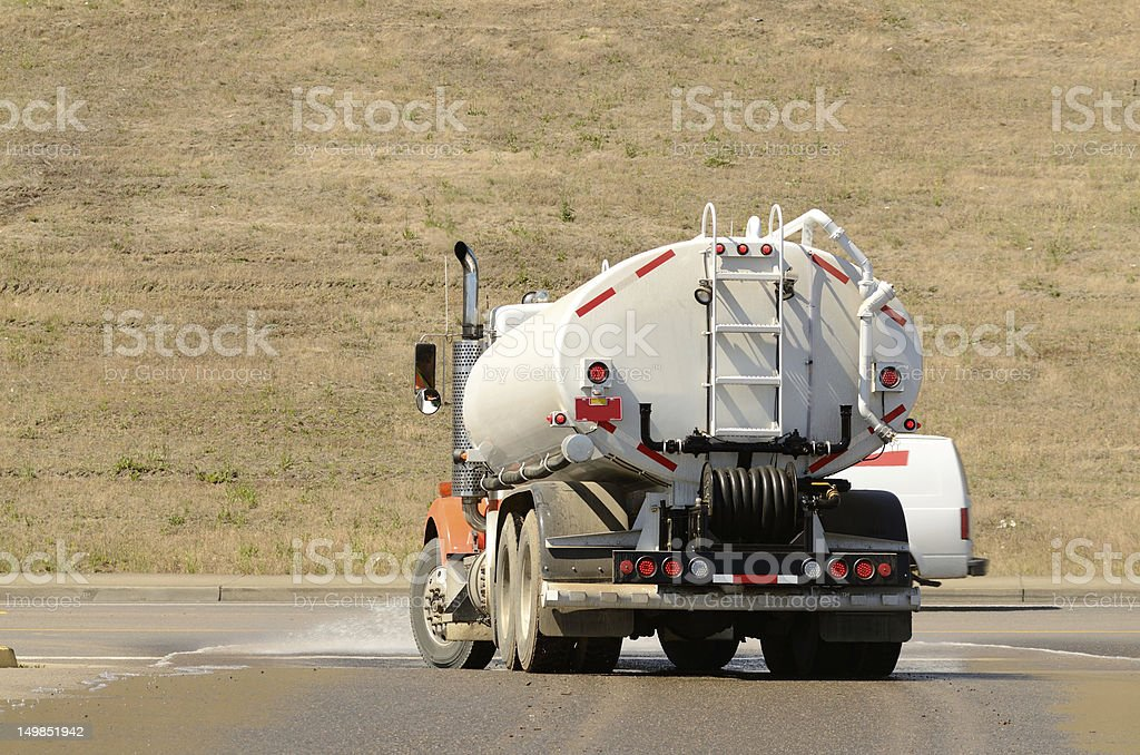 Water truck royalty-free stock photo
