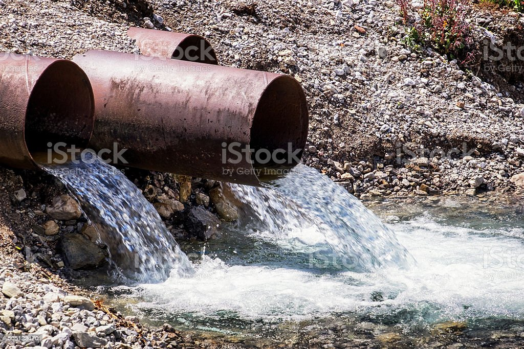 water tubes stock photo