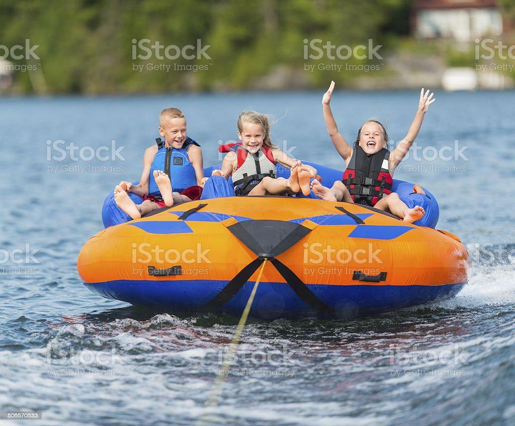 Water tubing stock photo