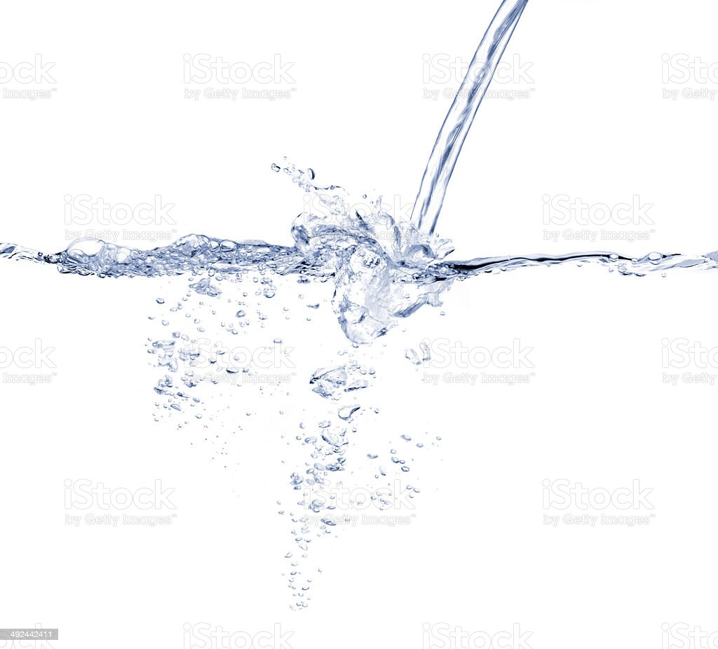 Water turbulence stock photo