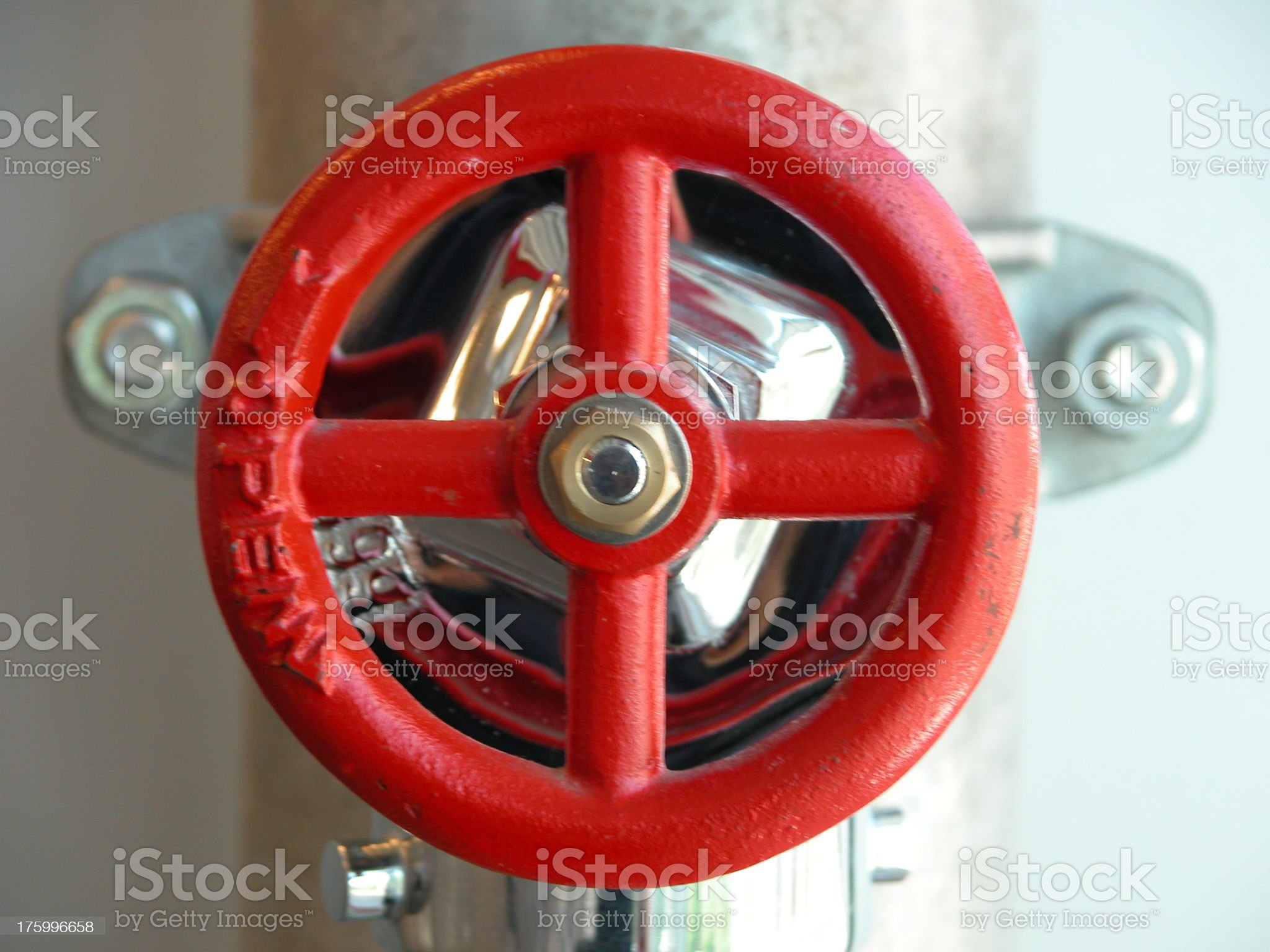 Water Valve for Fire Hose royalty-free stock photo