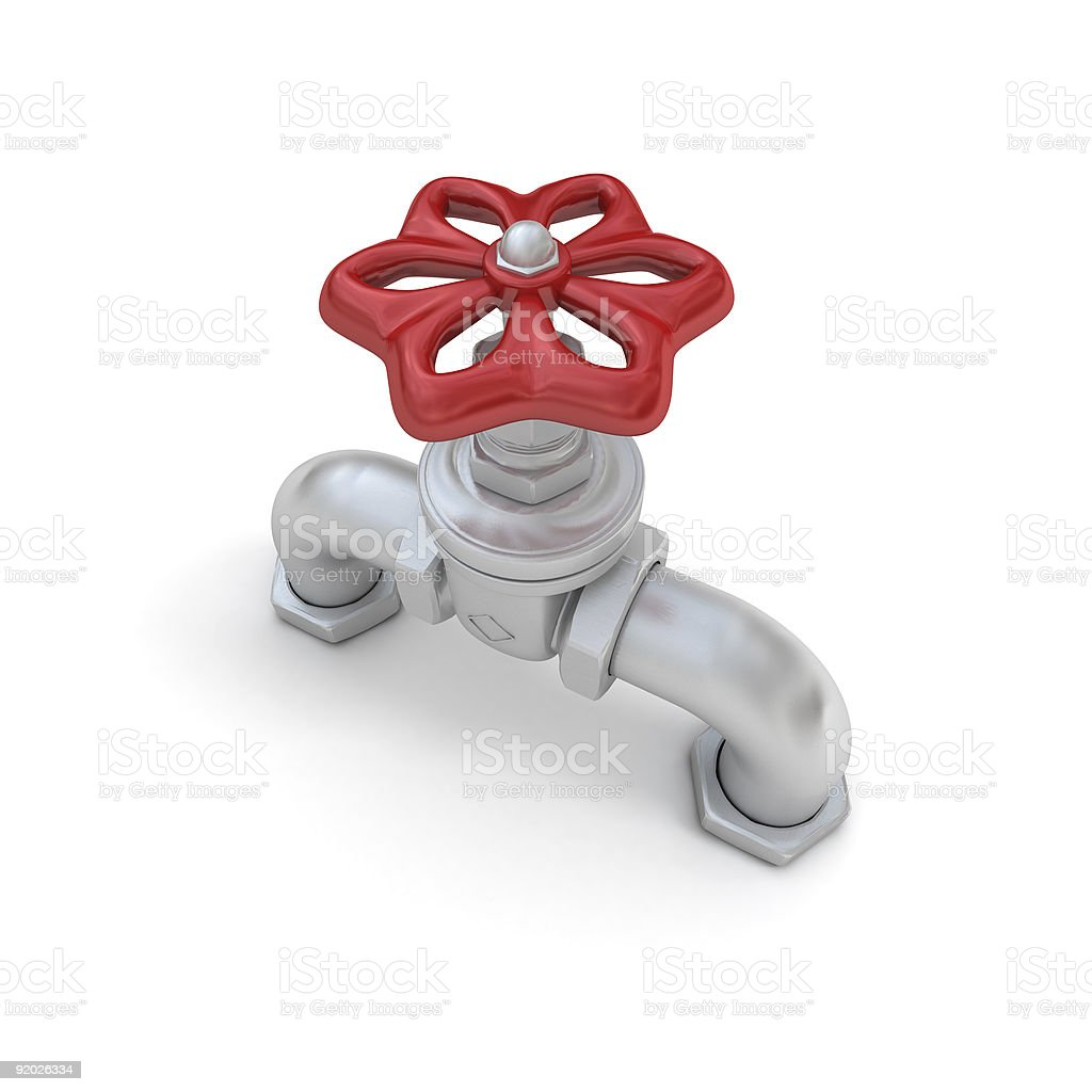Water valve in steel royalty-free stock photo