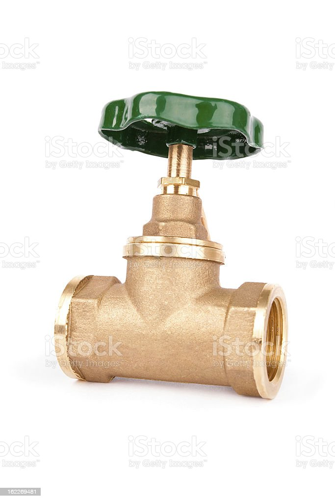 Water valve isolated on white background royalty-free stock photo