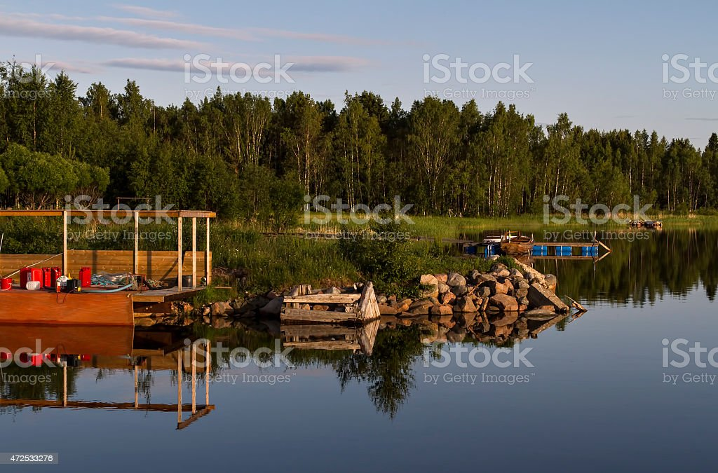 water view on a pier royalty-free stock photo