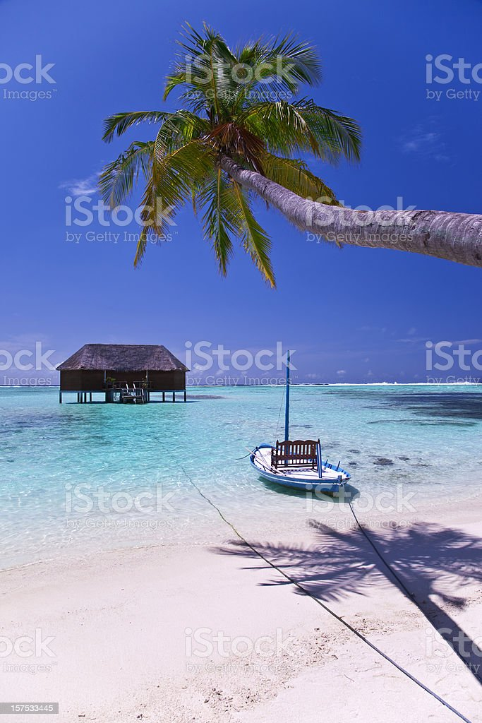 water villa on the maldives royalty-free stock photo