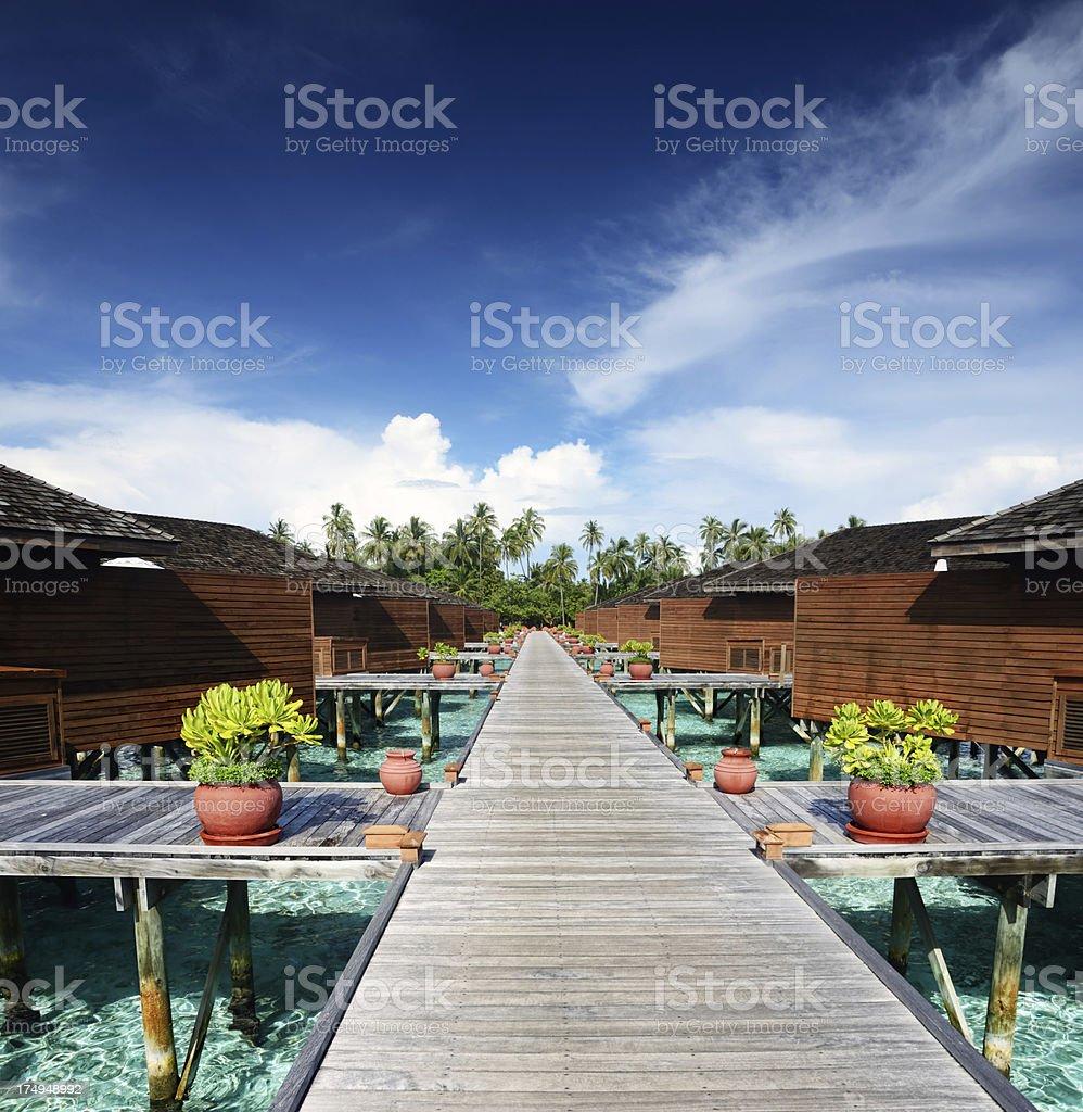 Water villas royalty-free stock photo