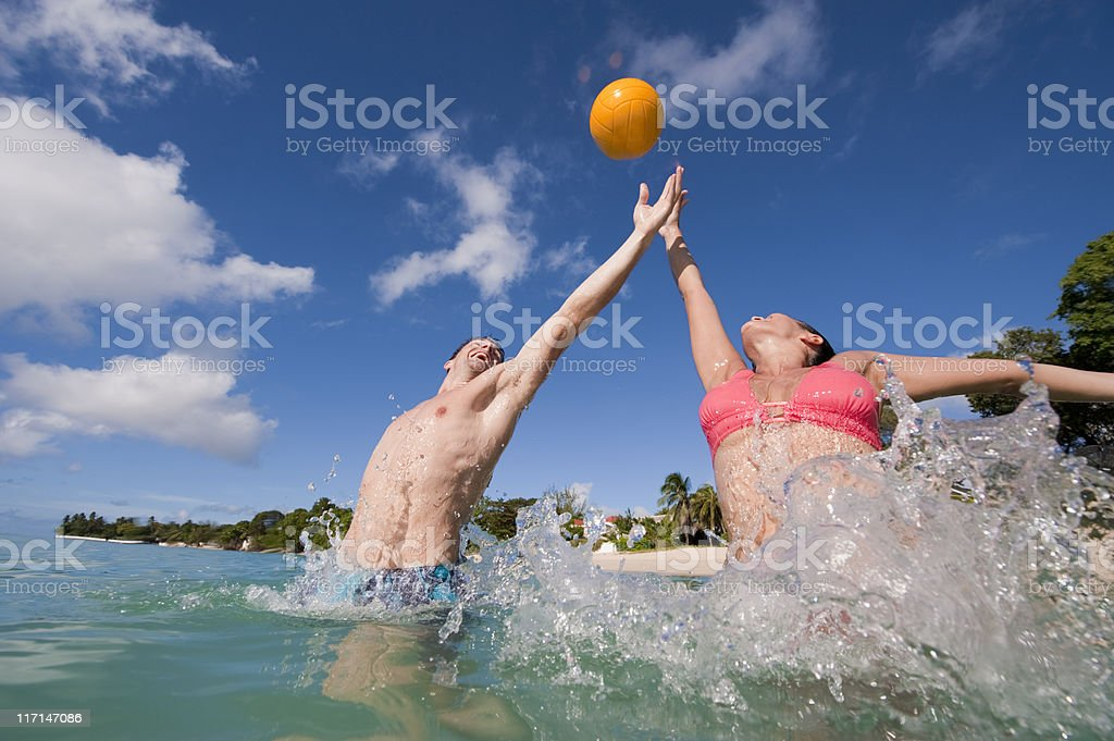 Water Volleyball royalty-free stock photo