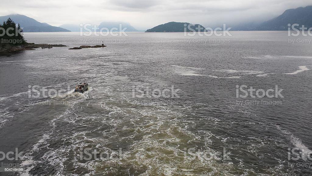 Water Wake stock photo