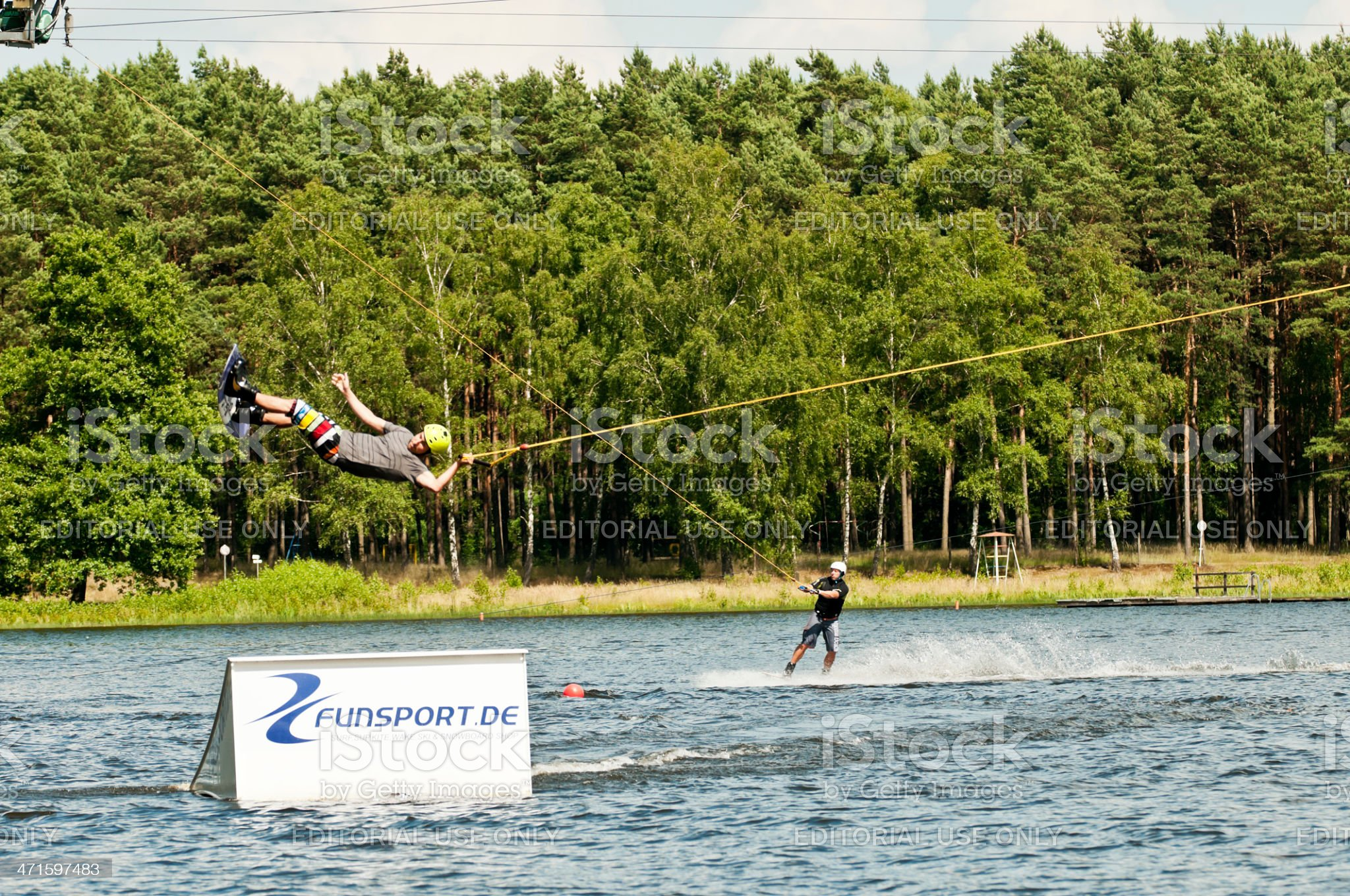 Water wakeboarding royalty-free stock photo