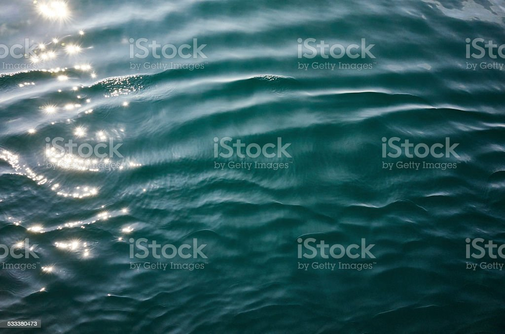 Water wave blue green surface background stock photo