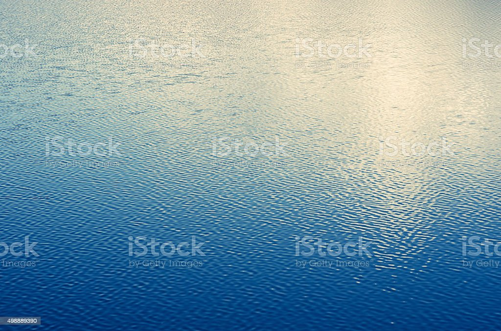 Water wave blue surface background stock photo
